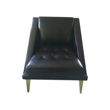 Pre-owned Vintage Club Chair - Black Leather