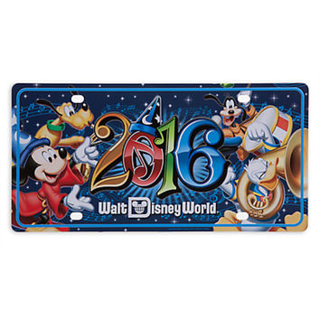 disney parks 2016 mickey fantasia sorcerer and friends license plate new