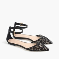 Lace flats with ankle-strap : Women flats | J.Crew