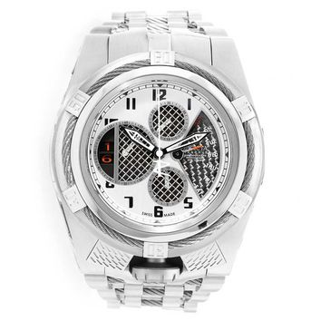 Invicta 16318 Men's Bolt Zeus Reserve Chrono Black & Silver Dial Steel Bracelet Watch
