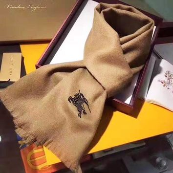 BURBERRY Popular Woman Men Embroidery Accessories Sunscreen Cape Scarf Scarves