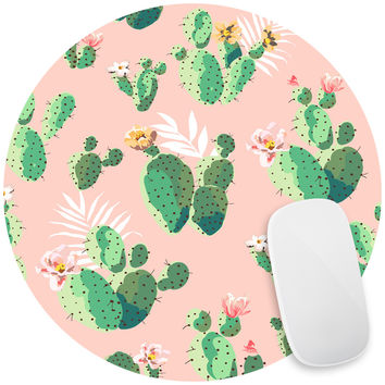 Cacti on Pink Mouse Pad Decal