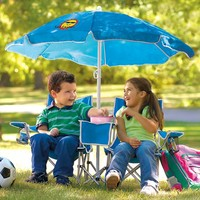 Sun Smarties Kids Double Folding Chair with Umbrella