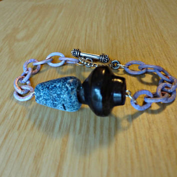 Lavender Astronomer Bracelet by EudaimoniaJewelry on Etsy