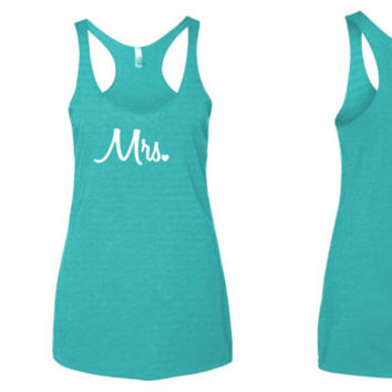 Mrs. Heart Tank Top // wedding tank top // Future Mrs. Tank top // flowy tank top // fitness tank top