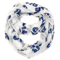 Squirrel Infinity Scarf- White