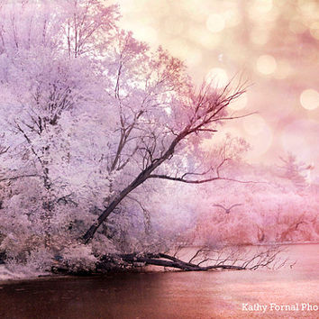 Nature Photography, Dreamy Pink Lavender Trees, Baby Girl Nursery Decor, Pink Lavender Landscape Nature Decor, Dreamy Pink Nature Art Print