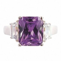 Kim's Amethyst Inspired CZ Engagement Ring