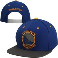 Mitchell & Ness Golden State Warriors Reflective Two-Tone Adjustable Snapback Hat - Royal Blue