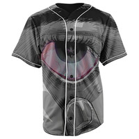Bloodshot Button Up Baseball Jersey