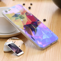 Modern Blue Ray Light Clear Mobile Phone Case For iPhone 6 6S 6 Plus 7 6S Plus Funny Pattern Transparent Cover For iPhone 6 6S