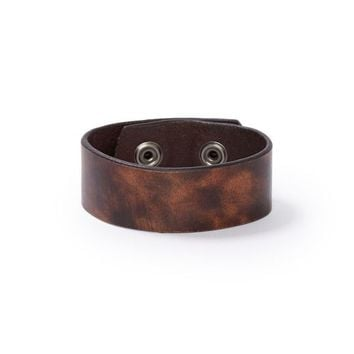 38mm Brown Cantera Leather Strap Wristband