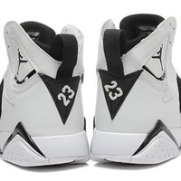 Cheap Air Jordan 7 Retro Men Shoes Black Charcoal White
