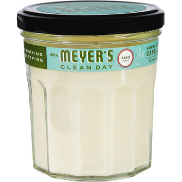 Mrs. Meyer's Soy Candle - Basil - 7.2 Oz - Case Of 6