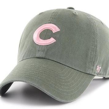 79070d7a94a86 Womens Chicago Cubs Moss Clean Up Adjustable Hat By  47 Brand