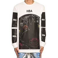 HOOD BY AIR | Map L/S Tee Black/White