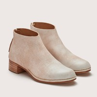 CEREMONIAL MID HEEL BOOT RAW WHITE