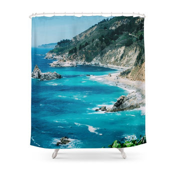 Society6 Big Sur California Shower Curtains
