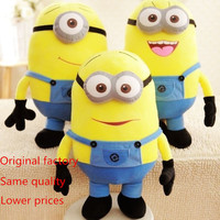 "3pcs/set 11"" 3D Despicable ME Movie Plush Toys 9.8-Inch Minion Jorge Stewart Dave For Kids Gift"