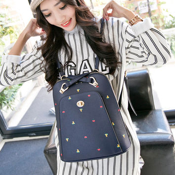 On Sale Comfort Hot Deal Back To School College Casual Korean Ladies Stylish One Shoulder Backpack [8384589063]