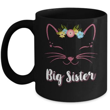 ONETOW Kitty Cat Big Sister I'm Going To Be A Big Sister Mug