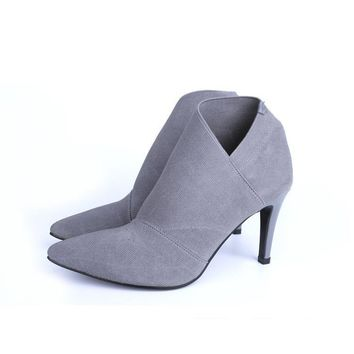 Women's Boots Ankle Boots Stiletto Heel Cloth Shoes