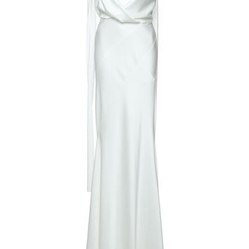 Draped Silk Satin Gown | Moda Operandi