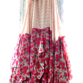 Bohemian gypsy Music Festival Stevie Nicks style maxi dress dress, The Joplin hippie Boho dresses, Bohemian Prom dress, True rebel clothing