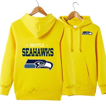 Men's casual hoodie NFL American football sweatshirt coll pullover Seattle Seahawks