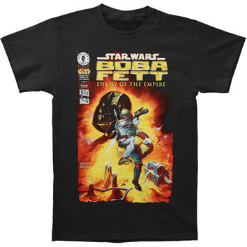 Star Wars Men's  Boba Fett Enemy T-shirt Black Rockabilia
