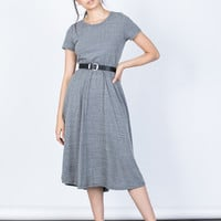 Back Buttoned Midi Tee Dress