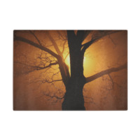 Sunset Tree Glass Cutting Board
