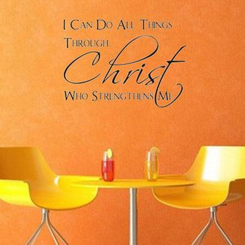 I Can Do All Things Through Christ Wall Stickers For Living Rooms