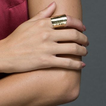 Burnished Brass Ring by Purpose Jewelry