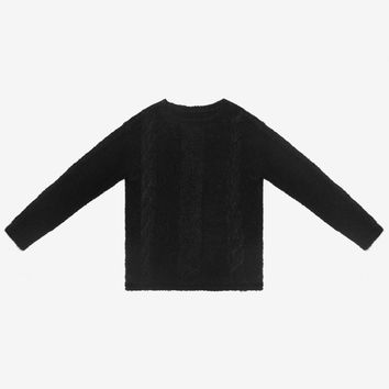 Stampd Cable Knit Alpaca Sweater-Black