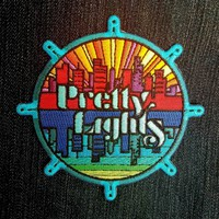 """Pretty Lights Embroidered Patch (Iron-on) ~4"""""""