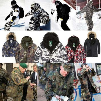 "New Premium ""SouthPlay"" Winter Season Waterproof 10,000mm Warming Ski & Snowboard Total Military Jackets"