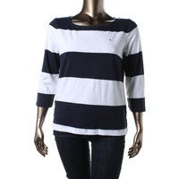 Tommy Hilfiger Womens Cotton Knit Pullover Top