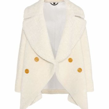 Shearling pea coat