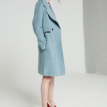 Wool Cashmere Thin Coat