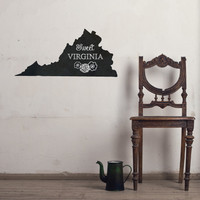 Virginia Chalkboard State wall decal