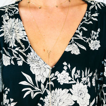 Deep V Necklace