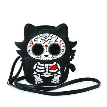 Sugar Skull  Cat Purse