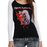 Iron Maiden Eddie Devil Girls Raglan