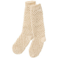 Trinity Stitch Ribbed Socks