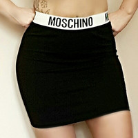 Moschino style mini skirt