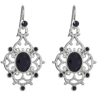 CHANTILLY Drop Earrings - Black