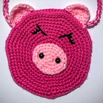 Children's Handbag with Pig Design, Pig Purse, Girls Purse
