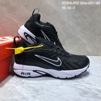 KUYOU N863 Nike Air Span II Light New Cushion Casual Running Shoes Black