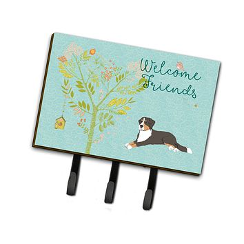 Welcome Friends Bernese Mountain Dog Leash or Key Holder BB7579TH68
